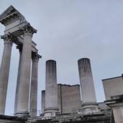 Xanten temple ruins